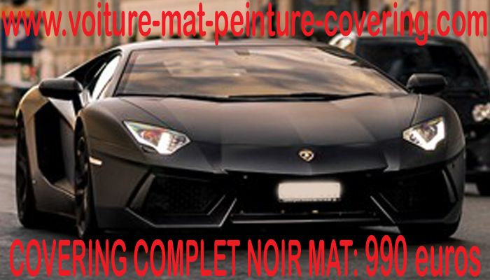 covering noir mat auto. Black Bedroom Furniture Sets. Home Design Ideas
